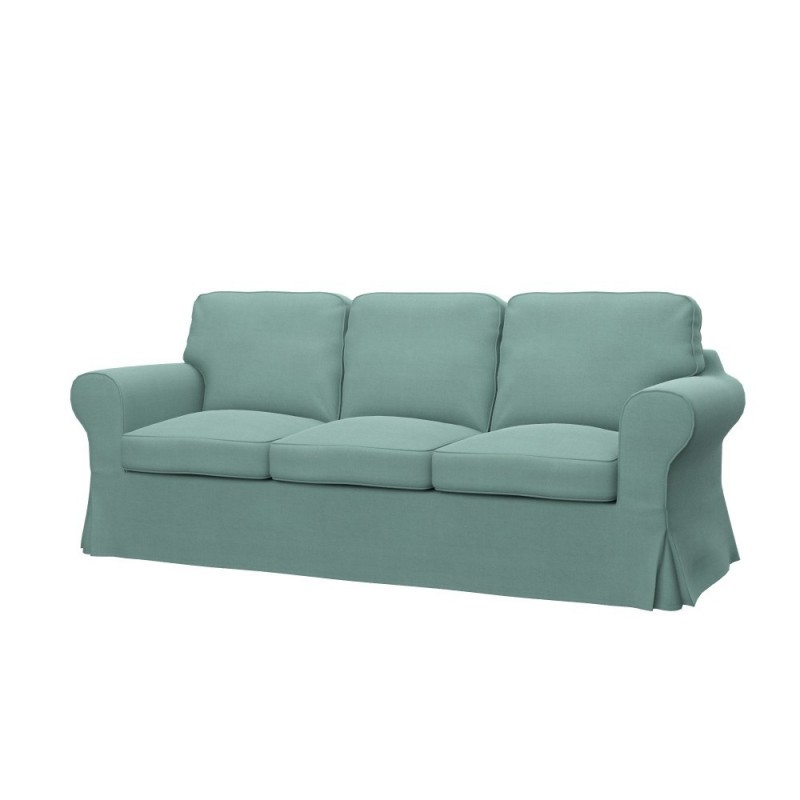 Ikea ektorp 3 seat sofa bed cover soferia covers for for Ikea sofa bed 90