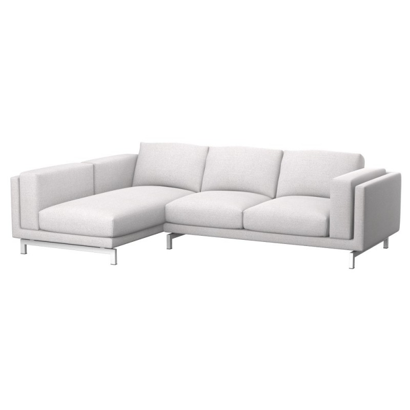 Chaiselongue ikea  IKEA NOCKEBY 2-seat sofa cover with left chaise longue - Soferia ...