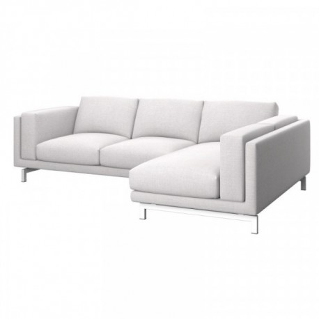 IKEA NOCKEBY 2 Seat Sofa Cover With Right Chaise Longue